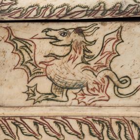 Reliquienkästchen aus Bein (Detail), 14. Jh. Dom Museum Wien, Leihgabe aus der Domkirche St. Stephan, Wien. Foto: Leni Deinhardstein, Lisa Rastl