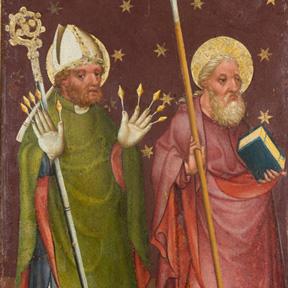 Heilige Erasmus und Thomas (Detail), um 1420. Dom Museum Wien, Leihgabe des Erzbistums, Wien. Foto: Leni Deinhardstein, Lisa Rastl