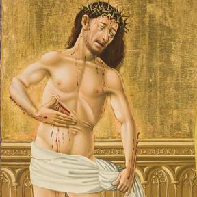 Epitaphbild des Johannes Geus (Detail), Meister des Albrechtsaltars, Wien, 1440<br />Dom Museum Wien<br />Leihgabe aus der Domkirche St. Stephan, Wien.<br />Foto: Leni Deinhardstein, Lisa Rastl