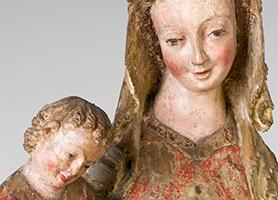 Erlacher Madonna um 1320-1330  Diözesane Sammlung Leni Deinhardstein, Lisa Rastl, Dom Museum Wien