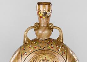 Syrische Glasflasche in Pilgerflaschenform um 1280  Domschatz St. Stephan Leni Deinhardstein, Lisa Rastl, Dom Museum Wien