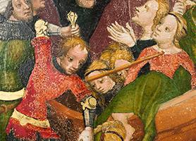 Martyrium der heiligen Ursula und ihrer Gefährtinnen Um 1415  Diözesane Sammlung Leni Deinhardstein, Lisa Rastl, Dom Museum Wien