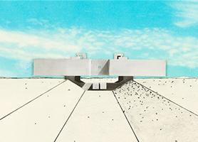Architektur in Landschaft 1963 Hans Hollein (*1934 Wien, + 2014 Wien) Sammlung Otto Mauer Leni Deinhardstein, Lisa Rastl, Dom Museum Wien