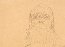 Alter Mann Undatiert Gustav Klimt (*1862 Baumgarten bei Wien, + 1918 in Wien) Sammlung Otto Mauer Leni Deinhardstein, Lisa Rastl, Dom Museum Wien