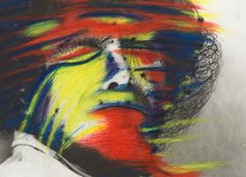 Selbstporträt als Rembrandt II 1969 od. 1970 Arnulf Rainer (* 1929 Baden bei Wien) Sammlung Otto Mauer Leni Deinhardstein, Lisa Rastl, Dom Museum Wien