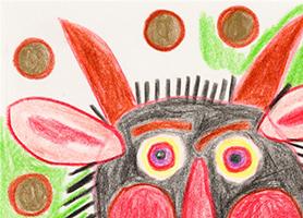 Teufelgott um 1971 August Walla (*1936 Klosterneuburg, Niederösterreich; + 2001 Maria Gugging, Niederösterreich) Sammlung Otto Mauer Leni Deinhardstein, Lisa Rastl, Dom Museum Wien
