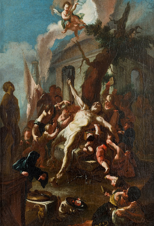 Marter des heiligen Kassian 1760 nach Paul Troger Diözesane Sammlung Leni Deinhardstein, Lisa Rastl, Dom Museum Wien