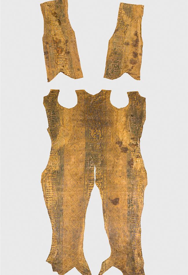 Gold-Seide-Stoff der Grabhülle Rudolfs IV. 1319-1335  Domschatz St. Stephan Leni Deinhardstein, Lisa Rastl, Dom Museum Wien