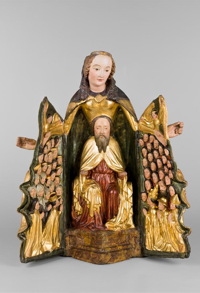 Schreinmadonna um 1420-30 Wiener Bildhauer Diözesane Sammlung Leni Deinhardstein, Lisa Rastl, Dom Museum Wien