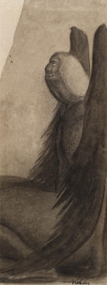 Sphinx 1902/03 Alfred Kubin (1877 Leitmeritz [Litomerice], Böhmen; + 1959 Zwickledt, Oberösterreich) Sammlung Otto Mauer Leni Deinhardstein, Lisa Rastl, Dom Museum Wien
