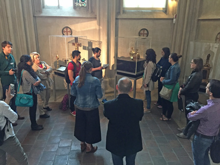 Teilnehmer_innen des Workshops im Rahmen des Kunstgeschichte Festivals der Universität Wien, Mai 2016.