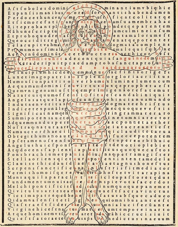 Rabanus Maurus, De laudibus sanctae crucis, 1605. Nationalbibliothek / Wien