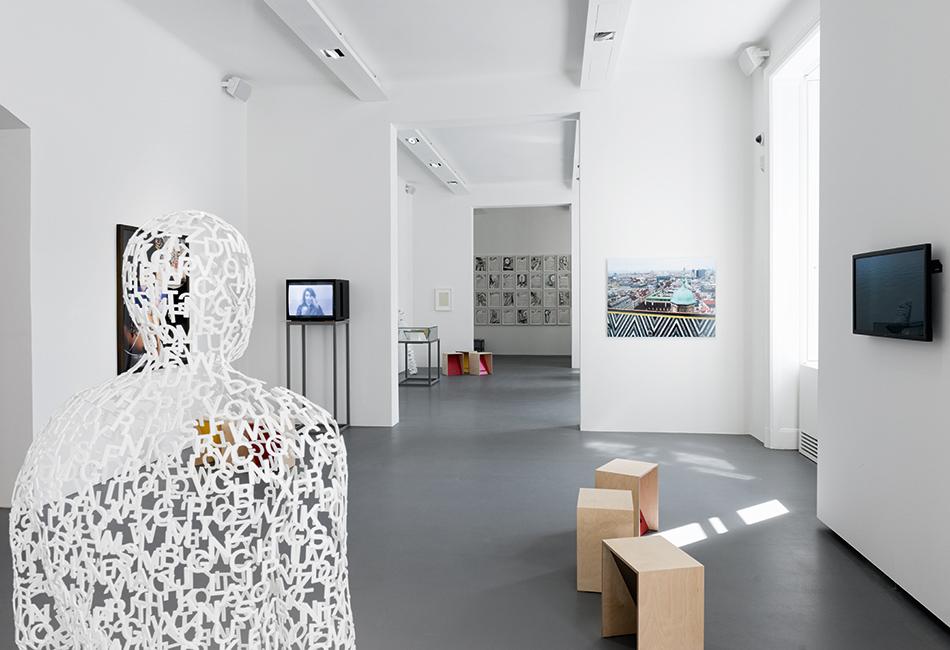 """Ausstellungsansicht """"Bilder der Sprache und Sprache der Bilder"""" Foto: Lena Deinhardstein"""