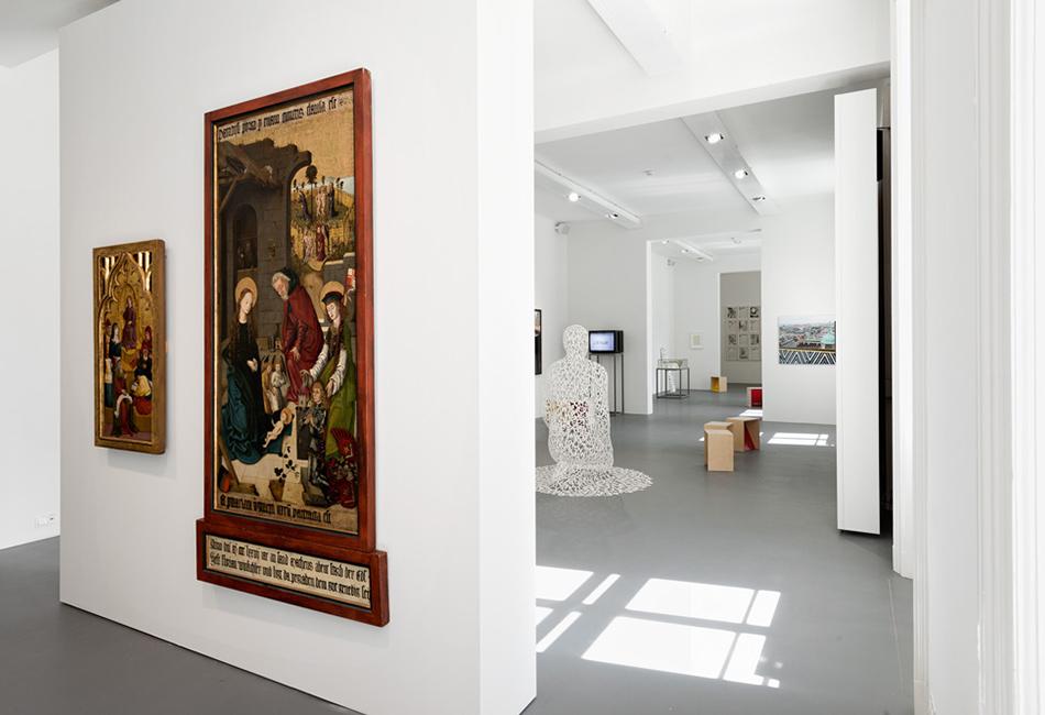 """Ausstellungsansicht """"Bilder der Sprache und Sprache der Bilder""""<br /> Foto: Lena Deinhardstein"""