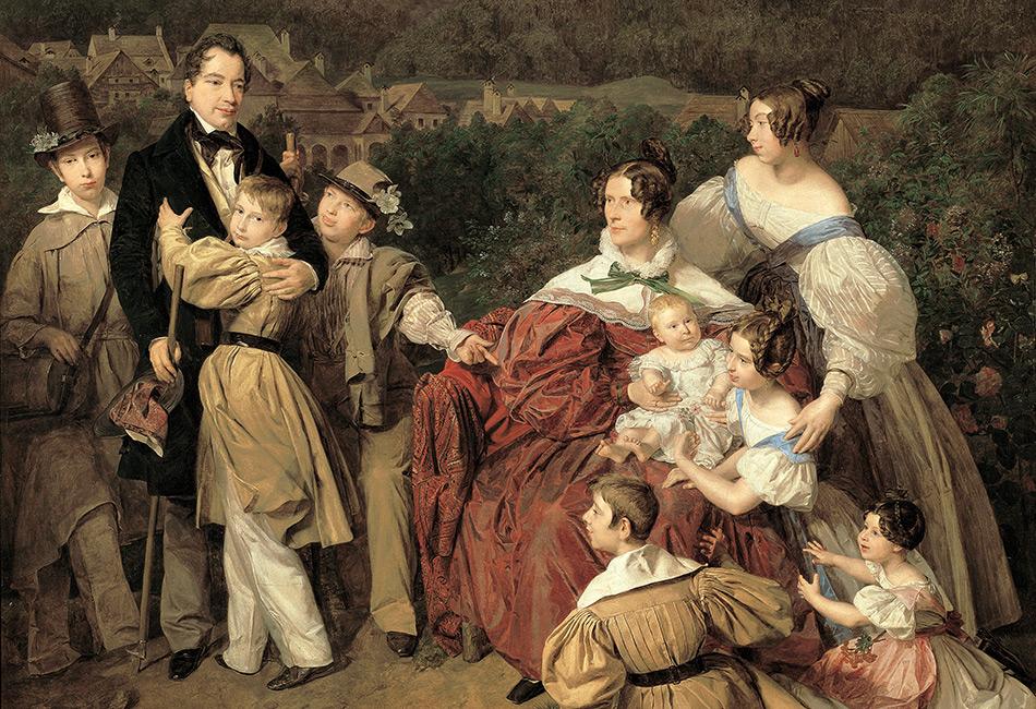 Ferdinand Waldmüller, Familie Eltz, 1835. © Belvedere, Wien, Ankauf aus Privatbesitz, unter Mitwirkung des Vereins der Museumsfreunde, Wien