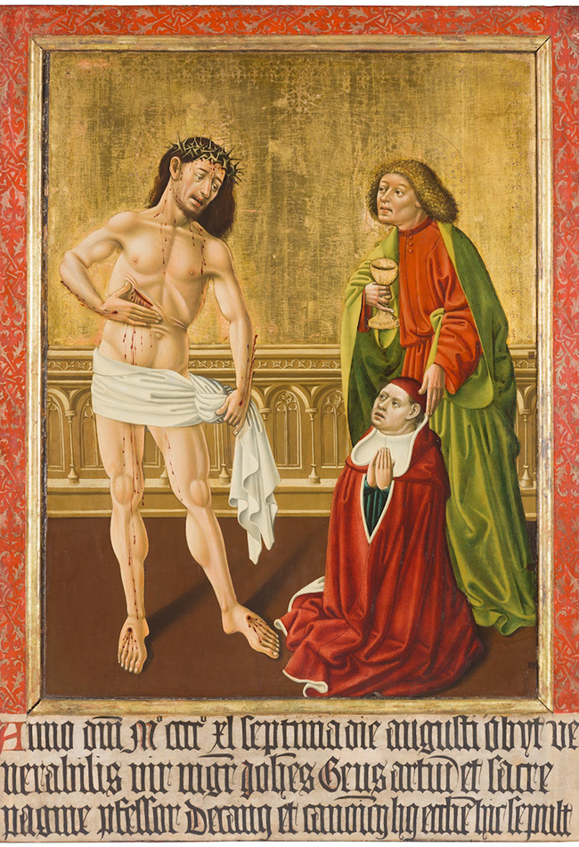 Epitaphbild des Johannes Geus, 1440. Dom Museum Wien Leihgabe der Domkirche St. Stephan, Wien  Foto: Deinhardstein, Rastl