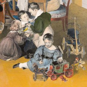 Johann Nepomuk Passini, Familienreunion (nach Peter Fendi), Detail, 1835 Erzherzog Franz Ferdinand-Museum, Schloss Artstetten, Niederösterreich; Foto: L. Deinhardstein