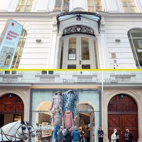 Die Eingände des Jüdischen Museum Wien und des Dom Museum Wien.