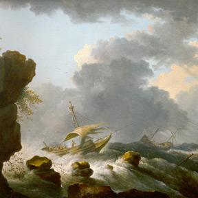 Bonaventura Peeters, Stürmische See (Detail), um 1640 Stiftsmuseum Klosterneuburg, Foto: Stiftsmuseum Klosterneuburg