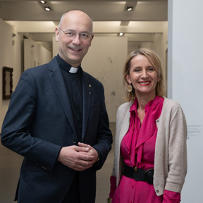 Dompfarrer Toni Faber & Museumsdirektorin Johanna Schwanberg. Foto (c) eSeL.at - Lorenz Seidler