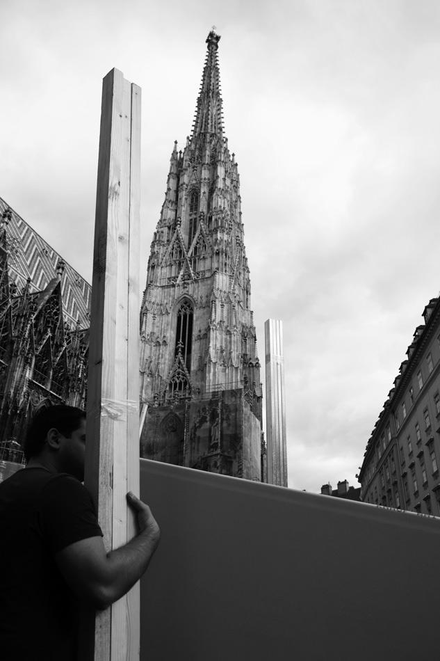 Hubert Lobnig, Die Baustelle, 2013. Dom Museum Wien, Otto Mauer Contemporary. (c) Bildrecht Wien, 2021. Foto: Hubert Lobnig.